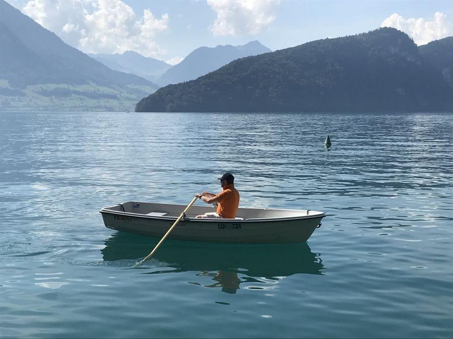 Terhi 385 Ruderboot auf dem Vierwaldstättersee