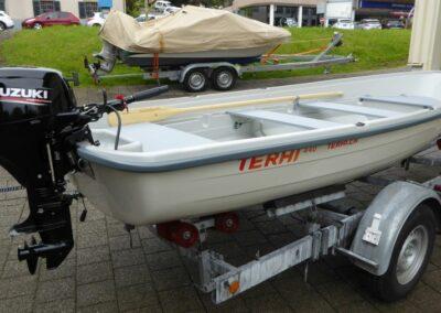 Terhi 440 Ruderboot mit Suzuki Aussenborder prüfungsfrei