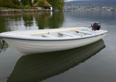 Terhi 440 Ruderboot mit Suzuki 8PS