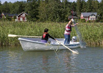 Terhi 440 Ruderboot im Einsatz
