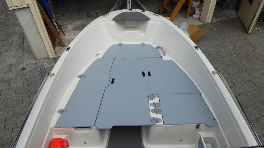 Terhi 450 C Familienboot Liegebretter einsatz