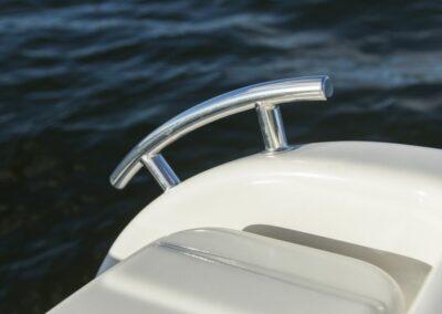 Terhi 475 BR Familienboot - Edelstahl Klampe