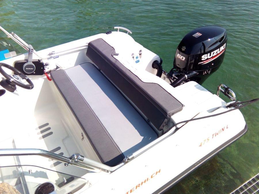 Terhi Twin C Konsolenboot - Sitzfläche hinten