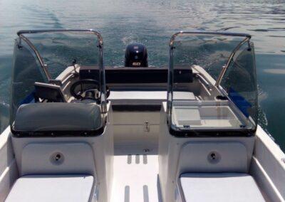 Terhi Twin C Konsolenboot - Doppelkonsole mit Windschutz