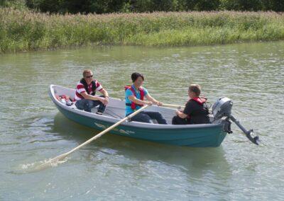 Terhi Saiman Boot im Einsatz