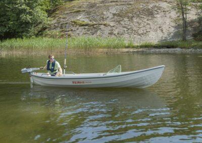 Terhi Saiman Ruderboot im Einsatz