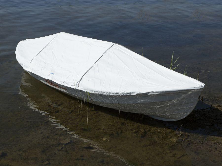 Terhi Saiman Boot mit Hafenpersenning