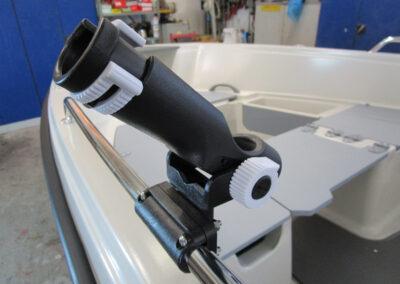 Fischerrutenhalter aus Kunststoff, abnehmbar
