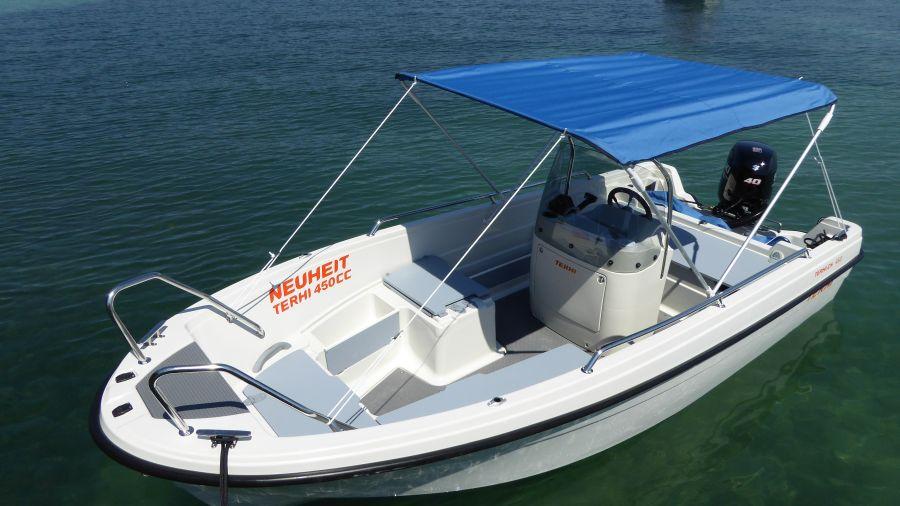 Boot Terhi 450 CC - Sonnenschutz
