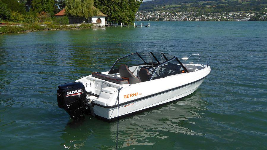Sportboot kaufen Terhi 480 auf dem Zürichsee Suzuki Motor