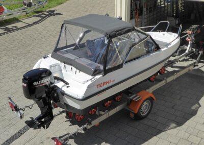 Heckpersenning komplett geschlossen Terhi 480 Sportboot
