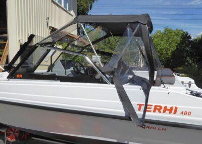 Abnehmbare Seitenfenster Heck-Fahrpersenning Terhiboot