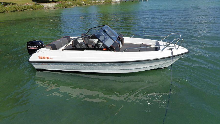 Ansicht Sonnenpolster Terhi 480BR Unsinkbares Boot