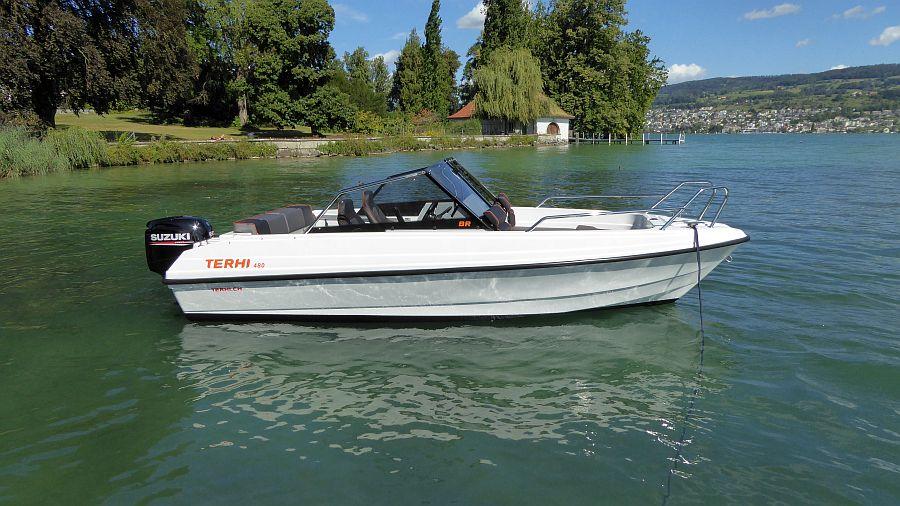 Seitenansicht Terhi 480 Zürichsee Horgen buolzer-boote