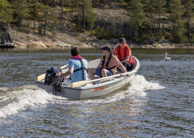Ausflug mit dem Terhi 385 Kleinboot