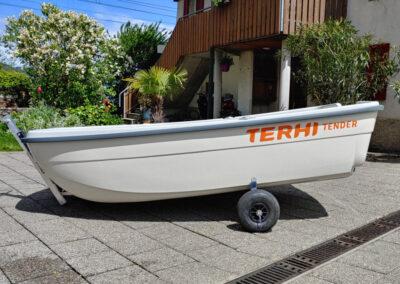 Terhi Tender auf Slipwagen